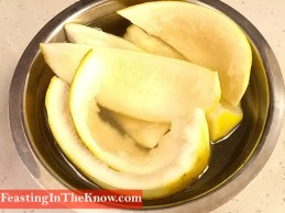 Soaking pomelo rind